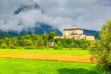 View of Trautenfels Castle, Schloss Trautenfels Museum, Unterburg, Styria, Austria. Europe