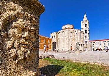 View of Cathedral of St. Anastasia, Zadar, Zadar county, Dalmatia region, Croatia, Europe