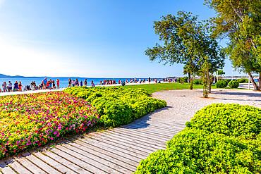 View of promenade, Zadar, Zadar county, Dalmatia region, Croatia, Europe