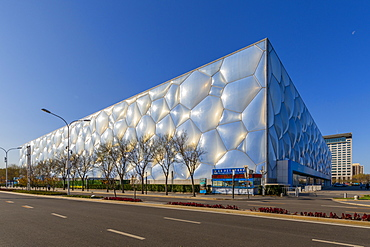 View of the Ice Cube, Olympic Green, Xicheng, Beijing, People's Republic of China, Asia