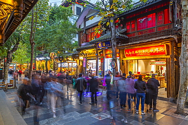 Shoppers in Kuanxiangzi Alley, Chengdu, Sichuan Province, People's Republic of China, Asia