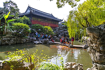View of traditional Chinese architecture in Yu Garden, Shanghai, China, Asia