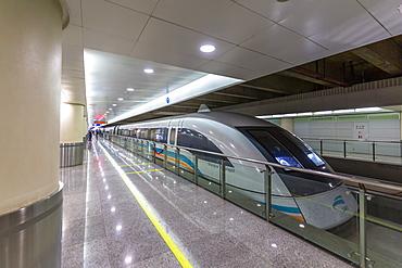 Shanghai Transrapid train, Fastest Train in the World, Shanghai, China, Asia