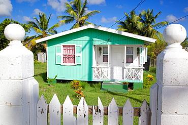 Colourful house near Falmouth, St. Paul, Antigua, Leeward Islands, West Indies, Caribbean, Central America