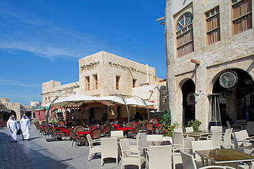 Restaurants, Waqif Souq, Doha, Qatar, Middle East