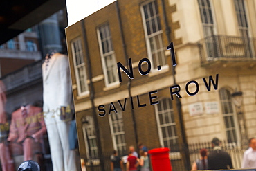No 1 Savile Row sign, London, England, United Kingdom, Europe