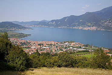 Iseo and view of Lake Iseo, Lombardy, Italian Lakes, Italy, Europe