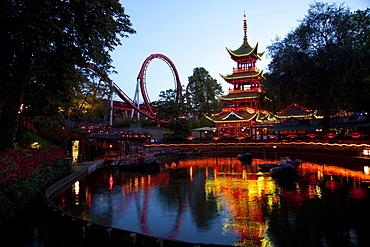 Oriental Temple, Tivoli Gardens, Copenhagen, Denmark, Scandinavia, Europe