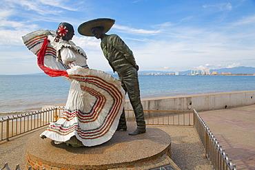 Statues on Promenade, Downtown, Puerto Vallarta, Jalisco, Mexico, North America