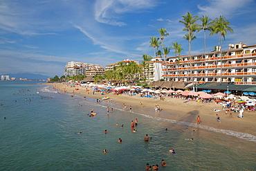Beach scene, Downtown, Puerto Vallarta, Jalisco, Mexico, North America