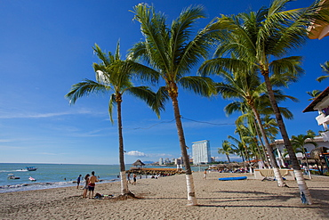 Beach scene, Puerto Vallarta, Jalisco, Mexico, North America