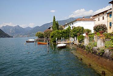 Lakeside, Sale Marasino, Lake Iseo, Lombardy, Italian Lakes, Italy, Europe