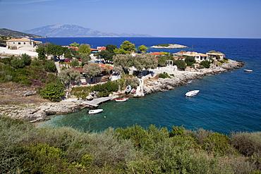 Makrigialos village and Cephalonia Island, Zakynthos, Ionian Islands, Greek Islands, Greece, Europe
