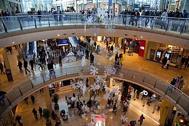 Christmas, Bullring Shopping Centre, City Centre, Birmingham, West Midlands, England, United Kingdom, Europe