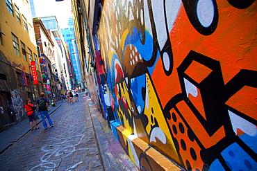 Graffiti in Central District, Melbourne, Victoria, Australia, Pacific