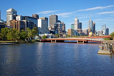 Yarra River and City Skyline, Melbourne, Victoria, Australia, Oceania