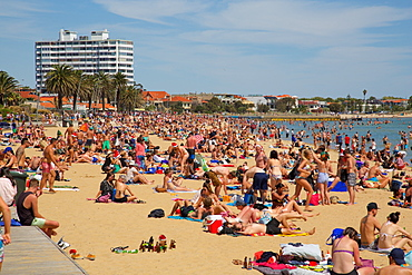 St Kilda Beach, Melbourne, Victoria, Australia, Oceania