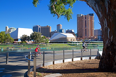 View of City from Adelaide Oval, Adelaide, South Australia, Oceania