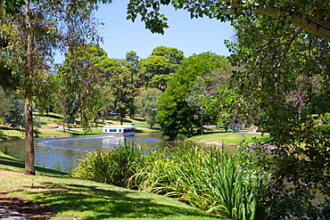 River Torrens and 'Popeye' boat, Adelaide, South Australia, Oceania