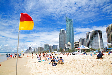 Surfers Paradise, Beach Front Skyscrapers, Gold Coast, Queensland, Australia, Oceania