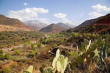 Snow capped High Atlas Mountain Range, Morocco, North Africa, Africa