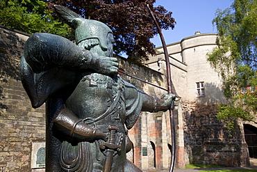 Statue of Robin Hood, Nottingham, Nottinghamshire, England, United Kingdom, Europe