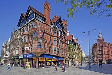 Architecture, Old Market Square, Nottingham, Nottinghamshire, England, United Kingdom, Europe