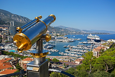 View of Harbour, Monaco, Mediterranean, Europe