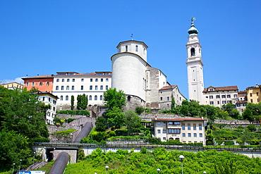 Duomo of San Martino and Juvarra bell tower, Belluno, Province of Belluno, Veneto, Italy, Europe