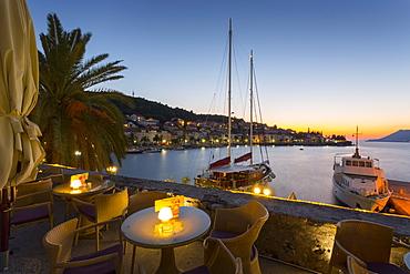 Sunset at Korcula, Korcula, Dalmatia, Croatia, Europe