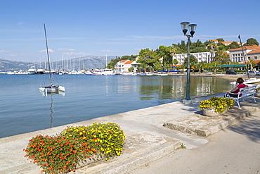 Harbour, Lumbarda, Korcula, Dubrovnik-Neretva County, Dalmatia, Croatia, Europe