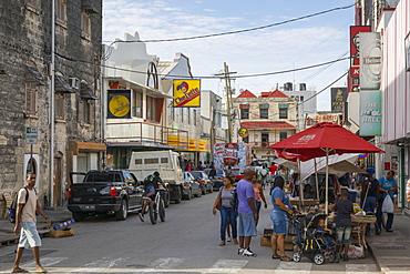 Street scene, Bridgetown, St. Michael, Barbados, West Indies, Caribbean, Central America