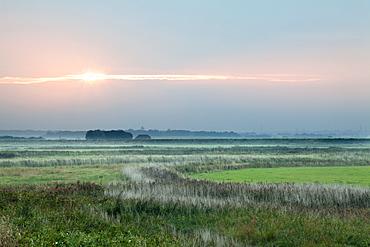 Sunset at Aldeburgh Marshes, Suffolk, England, United Kingdom, Europe