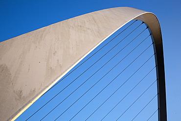 Gateshead Millennium Bridge between Newcastle and Gateshead, Tyne and Wear, England, United Kingdom, Europe
