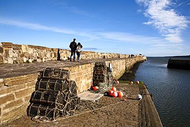 Lobster Pots at St Andrews Harbour, St Andrews, Fife, Scotland