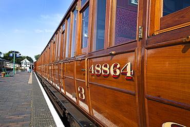 Vintage LNER rolling stock on the Poppy Line, North Norfolk Railway, at Sheringham, Norfolk, England, United Kingdom, Europe
