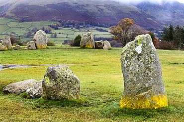 Castlerigg Stone Circle near Keswick, Lake District National Park, Cumbria, England, United Kingdom, Europe