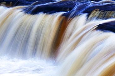 Abstract impression of Upper Aysgarth Falls, Wensleydale, North Yorkshire, England, United Kingdom, Europe