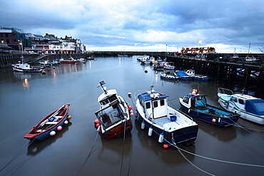 Fishing boats in the Harbour at Bridlington, East Riding of Yorkshire, Yorkshire, England, United Kingdom, Europe
