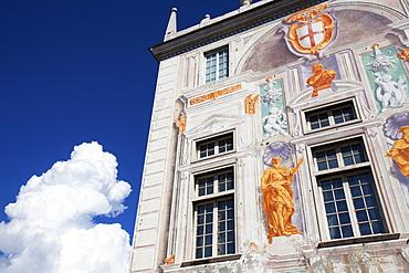 Palazzo San Giorgio at the Old Port in Genoa, Liguria, Italy, Europe