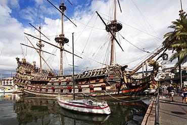 The Neptune Galleon in the Old Port, Genoa, Liguria, Italy, Europe