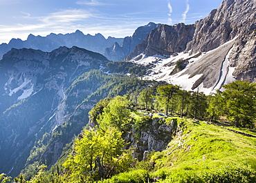 View from the top of Sleme, Julian Alps, Gorenjska, Slovenia, Europe