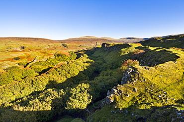 The Fairy (Faerie) Glen near Uig on the Isle of Skye, Inner Hebrides, Scotland, United Kingdom, Europe