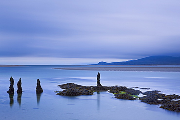 Looking out across Loch Gruinart towards Gortantaoid Point on the Isle of Islay, Inner Hebrides, Scotland, United Kingdom, Europe
