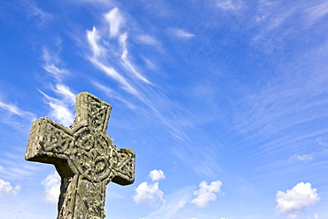 Kildalton Church celtic cross on the Isle of Islay, Inner Hebrides, Scotland, United Kingdom, Europe