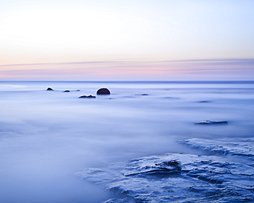 Summer's dawn at Boggle Hole, Yorkshire, England, United Kingdom, Europe
