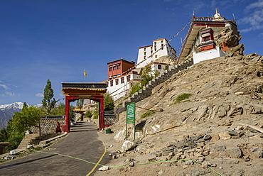 The 15th century Thiksey Monastery, Ladakh, Himalayas, India, Asia