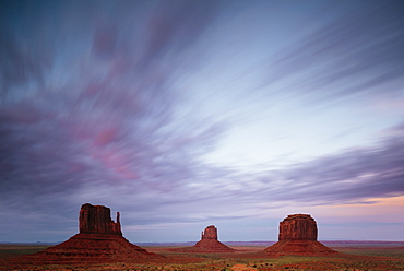 The Mittens and Merrick Butte, Monument Valley Navajo Tribal Park, Utah, United States of America, North America