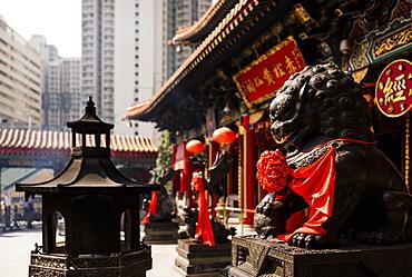 Exterior of Wong Tai Sin Temple, Kowloon, Hong Kong, China, Asia