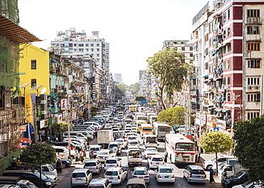 Mahabandoola Road, Yangon (Rangoon), Myanmar (Burma), Asia